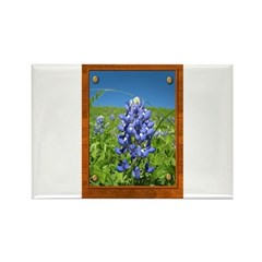 Blue Bonnets Rectangle Magnet