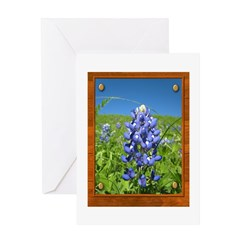 Blue Bonnets Greeting Card