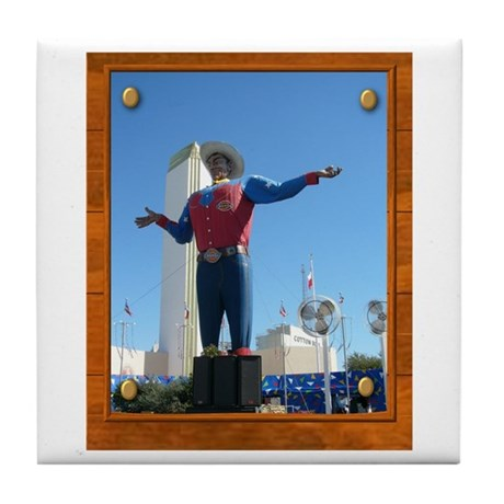 Big Tex #1 Tile Coaster