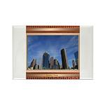 Houston Skyline #7 Rectangle Magnet