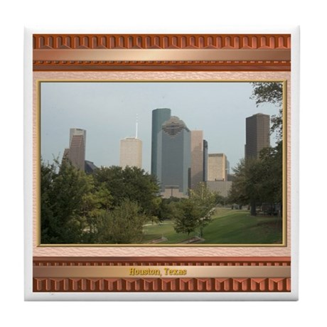 Houston Skyline #6 Tile Coaster