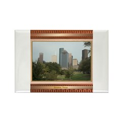 Houston Skyline #6 Rectangle Magnet
