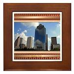 Houston Skyline #5 Framed Tile
