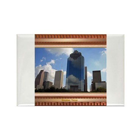 Houston Skyline #5 Rectangle Magnet