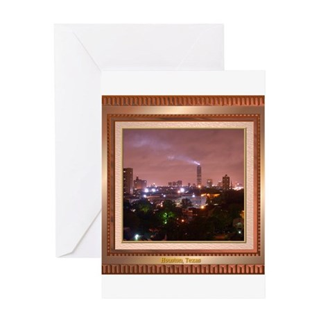 Houston Skyline #4 Greeting Card