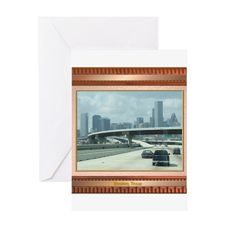 Houston Skyline #3 Greeting Card