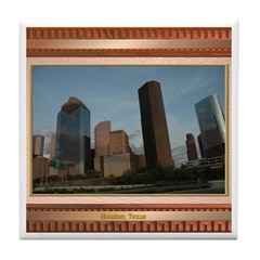 Houston Skyline #2 Tile Coaster