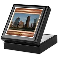 Houston Skyline #2 Keepsake Box