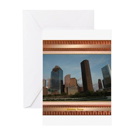 Houston Skyline #2 Greeting Card