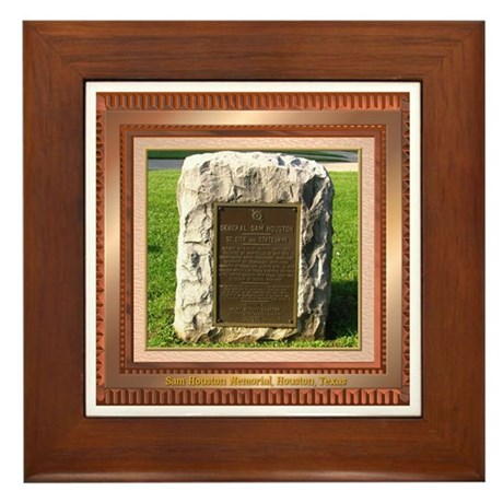 Sam Houston Memorial Framed Tile