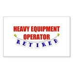 Retired Heavy Equipment Operator Sticker (Rectangu