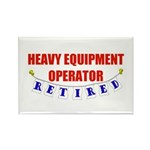 Retired Heavy Equipment Operator Rectangle Magnet
