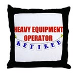 Retired Heavy Equipment Operator Throw Pillow