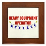 Retired Heavy Equipment Operator Framed Tile