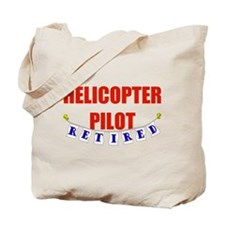 Retired Helicopter Pilot Tote Bag