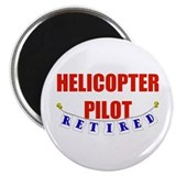 "Retired Helicopter Pilot 2.25"" Magnet (10 pack)"