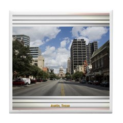 Austin Skyline #4 Tile Coaster