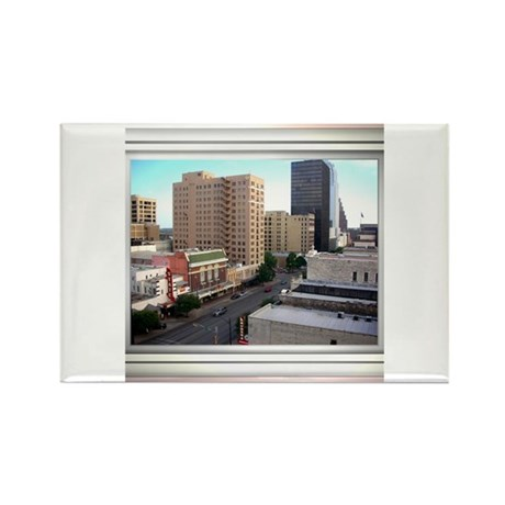 Austin Skyline #3 Rectangle Magnet