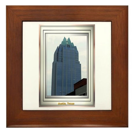 Austin Skyline #2 Framed Tile