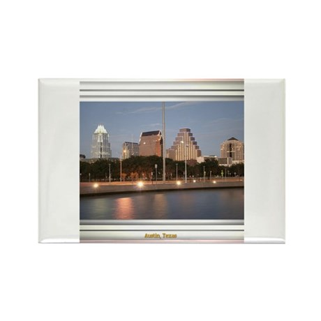 Austin Skyline #1 Rectangle Magnet