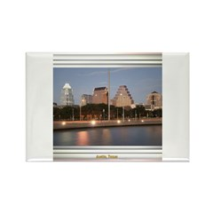 Austin Skyline #1 Rectangle Magnet