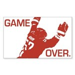 """Game Over"" Rectangular Sticker"