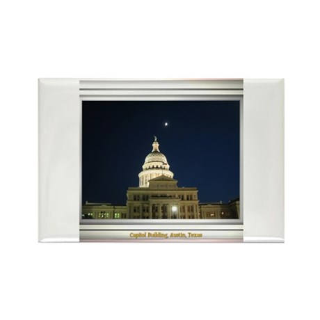 State Capitol #4 Rectangle Magnet