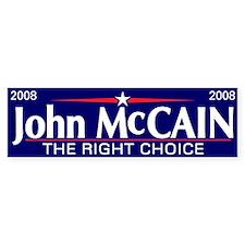 The Right Choice 2008: John McCain Bumper Sticker
