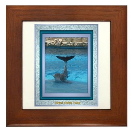 Dolphin Framed Tile