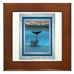 Dolphin Framed Tile