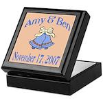 Personalized Wedding Tile Fav Keepsake Box