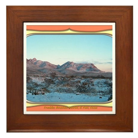 Frankline Mountain Sunrise Framed Tile
