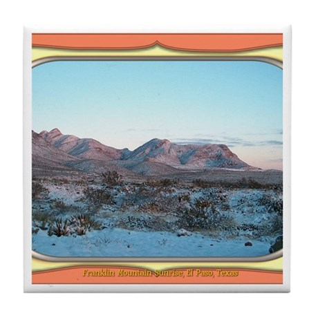 Frankline Mountain Sunrise Tile Coaster