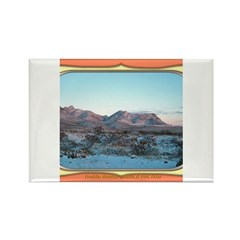 Frankline Mountain Sunrise Rectangle Magnet