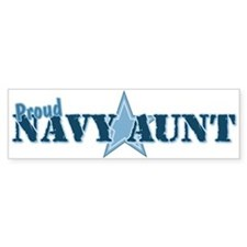 Proud Navy Aunt Bumper Bumper Sticker