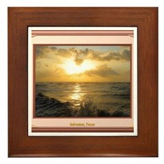 Galveston Sunrise Framed Tile