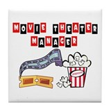 Movie Theater Mgr. Tile Coaster