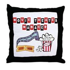 Movie Theater Mgr. Throw Pillow