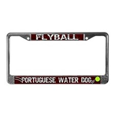 Flyball Portuguese Water Dog License Plate Frame