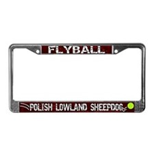 Flyball Polish Lowland Sheepie License Plate Frame