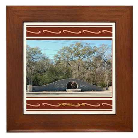 College Station #3 Framed Tile