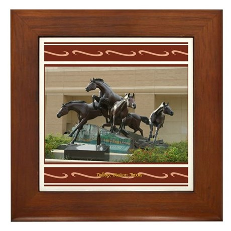 College Station #2 Framed Tile