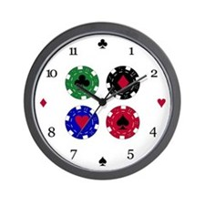 Poker Chips Wall Clock