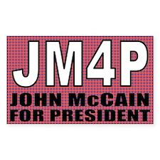 JM4P - John McCain For Presid Sticker (Rectangular