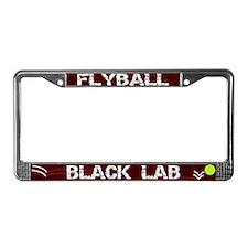 Flyball Black Lab License Plate Frame