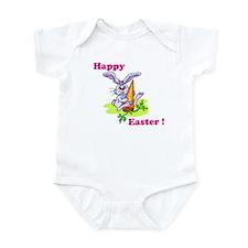 Pink Happy Easter Bunny Infant Bodysuit