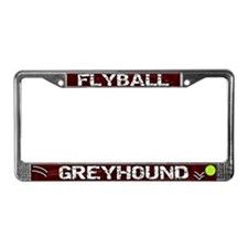 Flyball Greyhound License Plate Frame