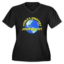 World's Greatest Journ.. (D) Women's Plus Size V-N