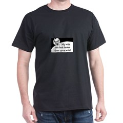 My Wife Knits Faster Dark T-Shirt