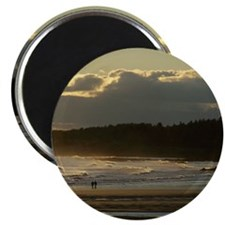 Lovers Walk On The Beach Magnet